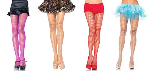 color fishnet tights