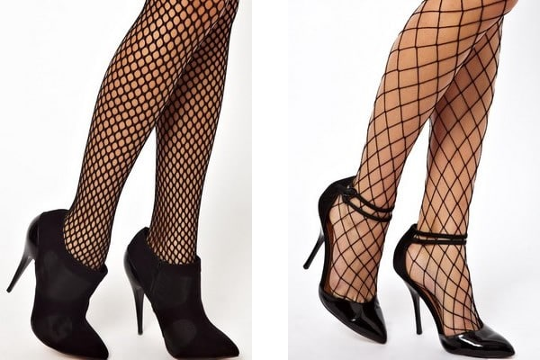 fishnets with shoes